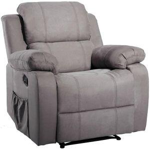 US-Aktien ORIS FUR. Suede Beheizte Massage Recliner Sofa Stuhl Ergonomischer Lounge mit 8 Vibrationsmotoren PP039116EAA