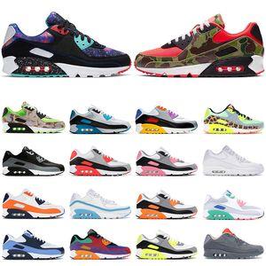 Barato air max 90 hombres mujeres zapatos para correr Reverse Duck Camo triple negro Dancefloor Green Supernova Volt para hombre zapatillas deportivas zapatillas de deporte