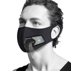 Masques électriques intelligents Fan Anti-Pollution allergie au pollen de protection respirante visage Couverture 4 couches PM2,5 Protect Mask antipoussière