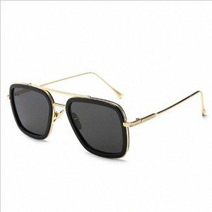 Gafas para hombre Gafas de sol Nueva Iron Man manera europea y americana Downey gafas de sol Hombre tendencia gafas graduadas Gafas línea Ro DlWE #