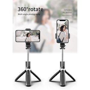 3 in 1 Mini Selfie Einbein-Stativ bewegliche drahtlose Bluetooth Selfie-Stick mit Fernbedienung faltbare Universelles für intelligentes Telefon DHF1319