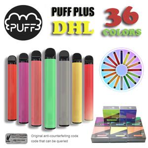 Le plus récent SOUFFLE PLUS 800 + Puff jetable Pod Cartouche 550mAh Batterie dispositif à usage unique Pod 36 couleurs avec groupe récent pour le meilleur des ventes !!
