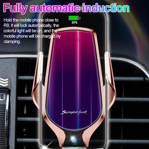 El sensor inteligente inalámbrico para coche Soporte de Carga 10W simple rápido Accesorios para teléfonos móviles inalámbricos libre del coche de carga de DHL