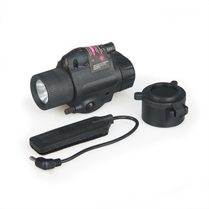 Hot Sale Hunting M6 Flashlight Outdoor Light With Red Laser Sight For Helmet Head Hunting CL15-0007R