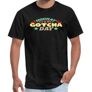 Aptitud Adopción niños del regalo del día GOTCHA padres camiseta de algodón caballeros simpsons camiseta tamaño grande s lema ~ 6XL