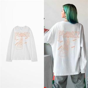 2019 Fashion Men's Hip Hop Piazz Print Long Sleeve T-shirt Autumn Men and Women Full Sleeve Harajuku T Shirt Autumn Streetwear 0924