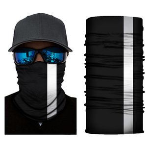 Reflexivo Stripe sólido Bandana Neck Headband ciclismo Pesca Cachecol Bandana homens mulheres máscara Headwear multifunções sem emenda da face EWE627