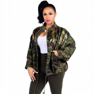 2020 haute qualité femmes Veste coupe-vent Printemps Automne Camouflage Paillettes Femme camouflage papillon coupe-vent Manteaux