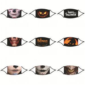 Многоразовая маска для лица против пыли Mascarilla моющегося Респираторы Хэллоуин Смешной Складной Защиты респирабельных Прочный взрослые Unisex 4 2zyb E2