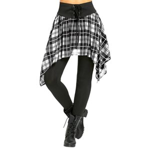 Sport Leggings Plaid Print Running Trousers Ladies Push Up Leggings Black Sexy Skirt Pants Slim Pencil Street Tight Pants #LR4