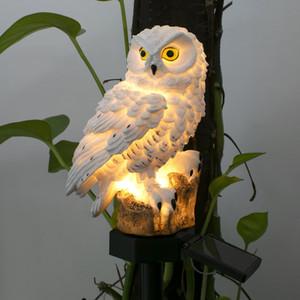 Brown Solar-Owl Landschaft Energy Saving-Lichtwasserdichte Solar-LED für Garten-Quadrat-Licht im Freien