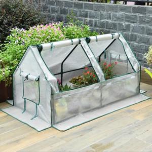 İki hücre zeminden tavana bahçe sera Tünel Sera Mini sera Bitki izolasyon Fide döken döken | Kraflo Bahçe Malzemeleri