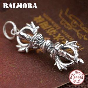 Bir Zincir SY13833 olmadan Kadınlar Erkekler Buddhistic Vajra Pestle Tay Gümüş Takı için Balmora 925 Gümüş Vintage Kolye