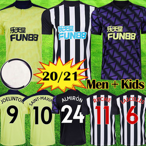 Neue 20 21 NUFC Fußball-Trikots Shelvey 2020 2021 Joelinton Fußball-Hemd ALMIRON RITCHIE GAYLE Ausrüstung Herren Kinder Kits