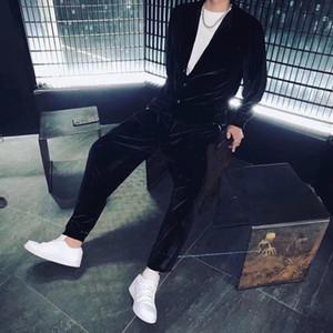 فاخر مصمم رجالي رياضية للرجال سابغة القطيفة جيب تشغيل عرضي رجل المصممين الملابس 2020 للرجال وتتسابق