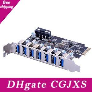 3 Adaptador concentrador controlador de tarjeta de ampliación PCI Multi Modelo -E Para 7 USB3 0.0 PCI Express tarjeta de expansión Super Speed USB Mini PCI-E 0.0