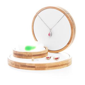 3pcs / Set di bambù del supporto dei monili del banco di mostra Vetrina Organizzatore anello collana braccialetto orecchini Display Per Vetrina MX200810