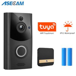 Tuya WiFi Doorbell Camera Security IP Door Bell Camera Outdoor 720P Waterproof Smart Wireless Doorbell Night Vision PIR