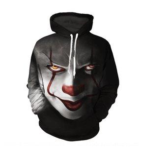 hBFsO Größe Druck großer Paar Damen-Digital-Hoodie Digitale seelen Rückkehr Outfit Serie Clown 20193D Pullover Männer Hoodie Gleitpaarung