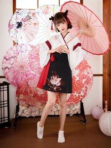 Hanfu elegante y de estilo chino mejoró Liuxian falda técnicas de estudio traje antiguo 3AgjX traje njxWD gato Ancient Fairy frescos de las mujeres