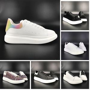 Neue Plattform Schuhe Männer Frauen Freizeitschuhe schwarz weiß reflektieren Turnschuhe Laser grün Samt multi Farbe weinrot Heckhöhe Erhöhung Trainer