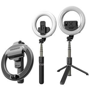 Wireless Bluetooth selfie Stick Treppiede L07 luminosità regolabile da 5 pollici LED Anello selfie Fill luce a distanza senza fili dell'otturatore
