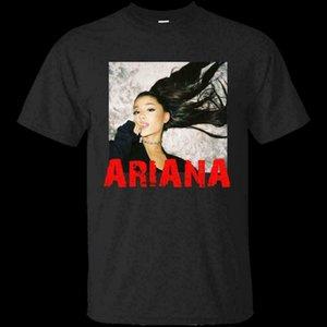 Мужчины Ariana Grande Vintage Black T-Shirt Качество футболки Мужчины Печать с коротким рукавом O шеи T Shirt