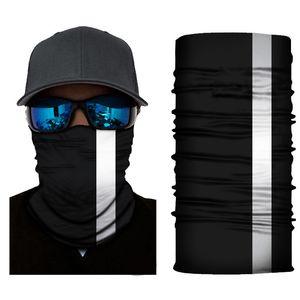 Reflexivo Stripe sólido Bandana Neck Headband ciclismo Pesca Cachecol Bandana homens mulheres Headwear multifuncionais Seamless Máscara Facial DHE627