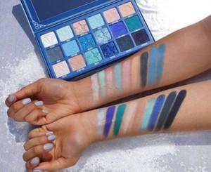 JS SANG BLEU EYESHADOW palette JS avancée Bleu Tone Shimmer Glitter Matte Eye Shadow Plate poudre