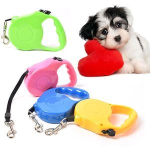 Beweglicher Haustier Blei Erweiterung Zugseil 3M / 5M automatische einziehbare Hundeleine Small Medium Hunde Gehen Blei Leinen 6 Farben BH1543 TQQ