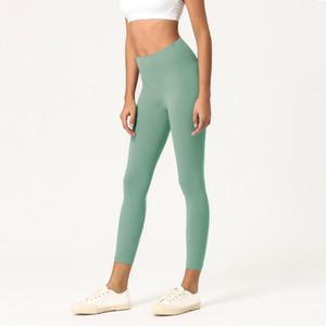 Donne Stylist Leggings solido di colore a vita alta Sport Gym pantaloni elastici fitness Abbigliamento Lady Collant allenamento di yoga pantaloni pantaloni della tuta