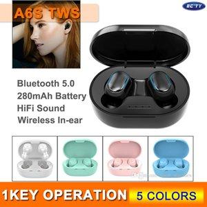 Nouveau TWS A6S Bluetooth 5.0 écouteurs IPX4 étanche sans fil dans l'oreille pour Oreillettes Smart Phone 5 couleurs en option avec boîte au détail