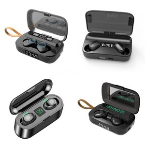 Oringinal F9-V5.0 Bluetooth Earphones TWS Fingerprint Toque Headset Estéreo In-Ear Earbuds Auscultadores sem fios para Iphone XS 11 11 Pr # 787