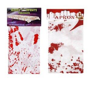 무서운 혈흔 혈액 드립 앞치마 쉴드 피의 천 파티 할로윈 피의 식탁보 테이블 커버 장식 호의 D82804 공급