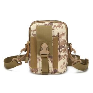Nuevo Molle Molle Compatible Equipo Militar Táctico Deporte al aire libre Montañismo Ejecutar Teléfono Celular Bolsa de cintura Paquete Fanny con correa de hombro