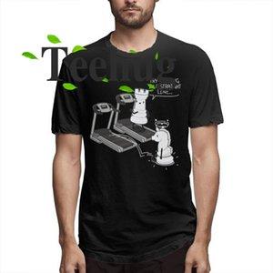 Düz bir çizgi tişört komik Streetwear O-Boyun için Erkek Te Gömlek Chess Tişörtlü komik Erkek Yürüyüş