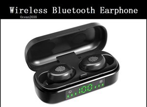 TWS Bluetooth 5 .0 Stereo HD Kopfhörer Sports Wireless Mini Earbuds In -Ear Kopfhörer mit LED-Box Lade