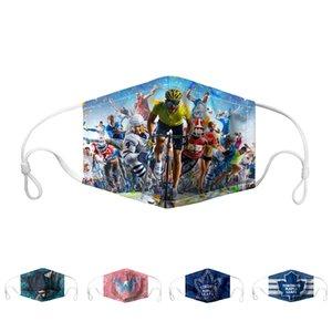 Designer Maschera di calcio accessori per hockey su ghiaccio di moda antipolvere Anti Smog regolabile riutilizzabile lavabile della mascherina protettiva Maschere bicicletta