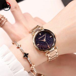 Movimento Bracciale Orologi in oro rosa Diamante Ladies Watch in acciaio Starp quarzo del Giappone Relogio Feminino X0926 HANNAH MARTIN lusso delle donne