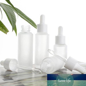 15ml 30ml Empty Frosted Clear Glass Dropper Bottle Eye Essential Oil Serum Glass Bottle With White Dropper Cosmetic Container SN574