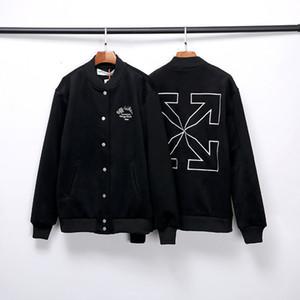 20FW net bordado jaqueta de beisebol casaco oficial de lã LKEI