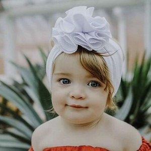 color sólido niños Maíz venda de la flor del paño de pelo del bebé banda headwraps vestido de la manera del bebé lindo de la voluntad y el regalo de arena