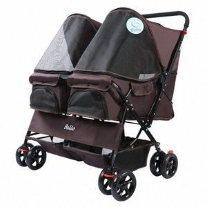 Pet Trolley Teddy Viaggiare Trolley Cat Dog Small Dog Pet Car luce uscente Kennel uscire Luce Passeggino Qu1R #