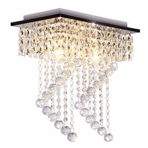 Erröten-Einfassung Licht Leuchten Moderne Kristall-Leuchter-Deckenleuchte Platz Aisle Korridor Kristall Wohnzimmer Schlafzimmer Deckenleuchte