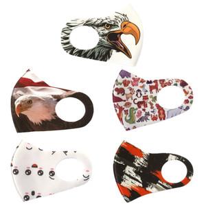 Adulto joven manera Máscara Águila Blanca repetible animal de la historieta de la boca Máscara Anti polución y transpirables máscaras de impresión de la cara