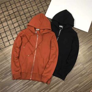 20FW Женщины Sweate Кардиган Молния Осень Hoodie Зима Кофта Мода Свитер Рубашка Уличная Шерсть Одежда