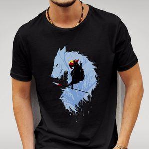 princess mononoke wolf black tshirt mens womens unisex anime studio ghibli geek cool casual pride t shirt men unisex