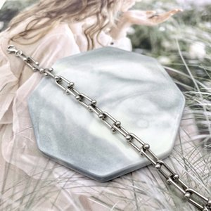 2020 new hot sale 925 sterling silver Korean version of the U-shaped bracelet is very good to start with 16 + 3 cm long