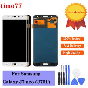 onarım aracı ile Super AMOLED LCD'ler Tam Sayısallaştırıcı için Samsung Galaxy J7 neo J701 J701F J701M J701MT LCD Ekran Dokunmatik Ekran Montaj