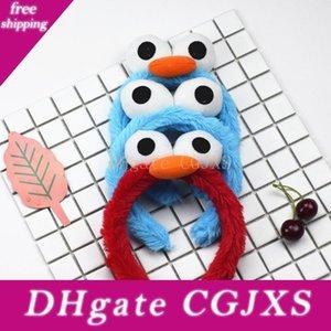 Sésamo Street Party Supplies Bandas de felpa de pelo del monstruo de Elmo de la galleta Juguetes Bird Band pulsera de los accesorios del pelo de la muñeca del regalo de cumpleaños